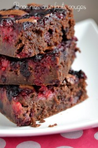Brownies aux fruits rouges 1