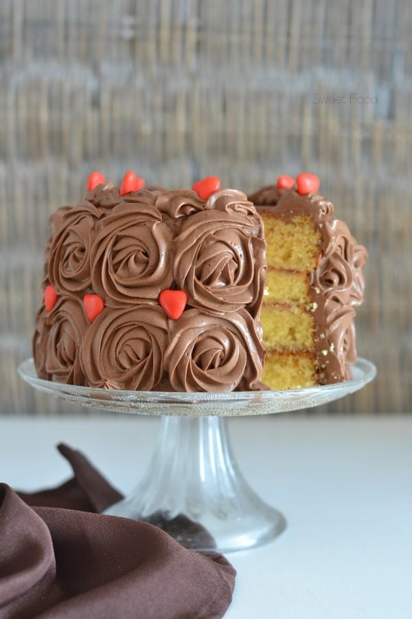 Rose cake au chocolat
