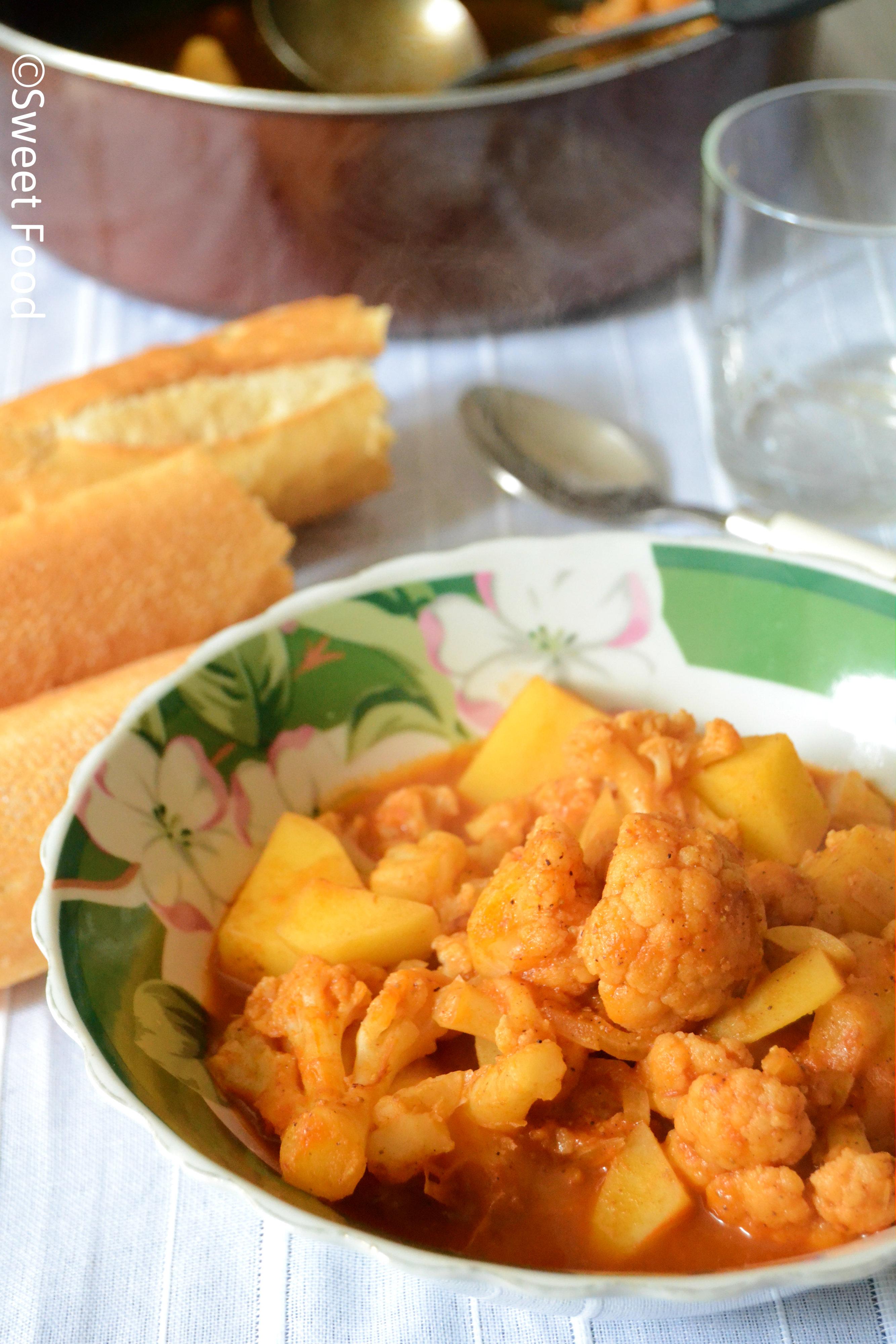 Choux Fleur et Pommes de terre en sauce