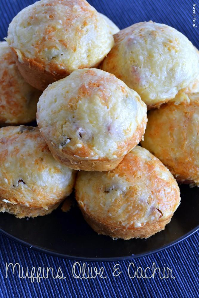 Muffins salés au olive et cachir