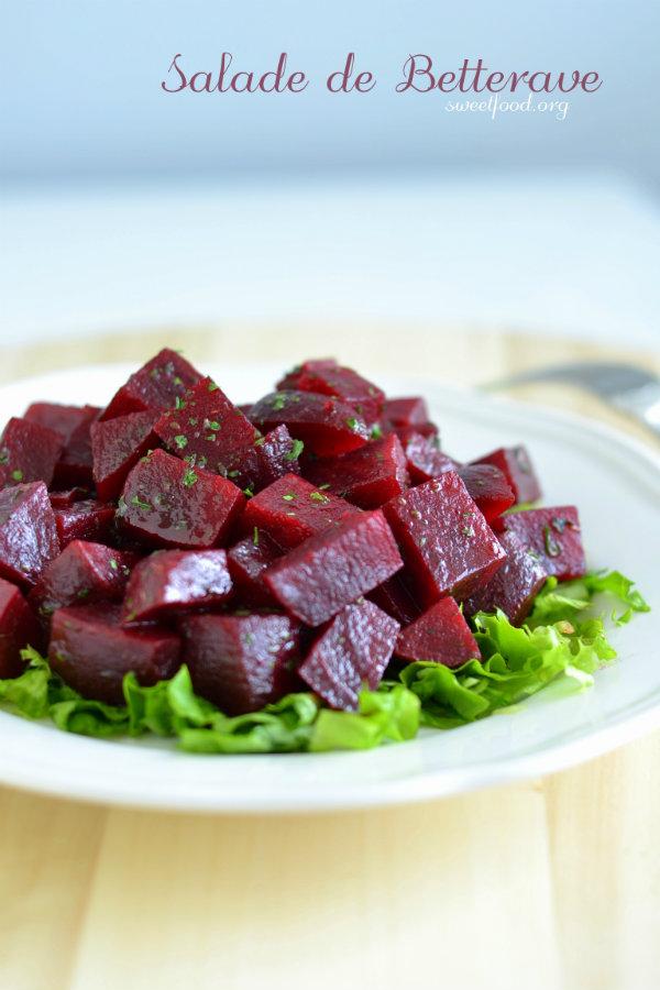 Salade de betterave rouge