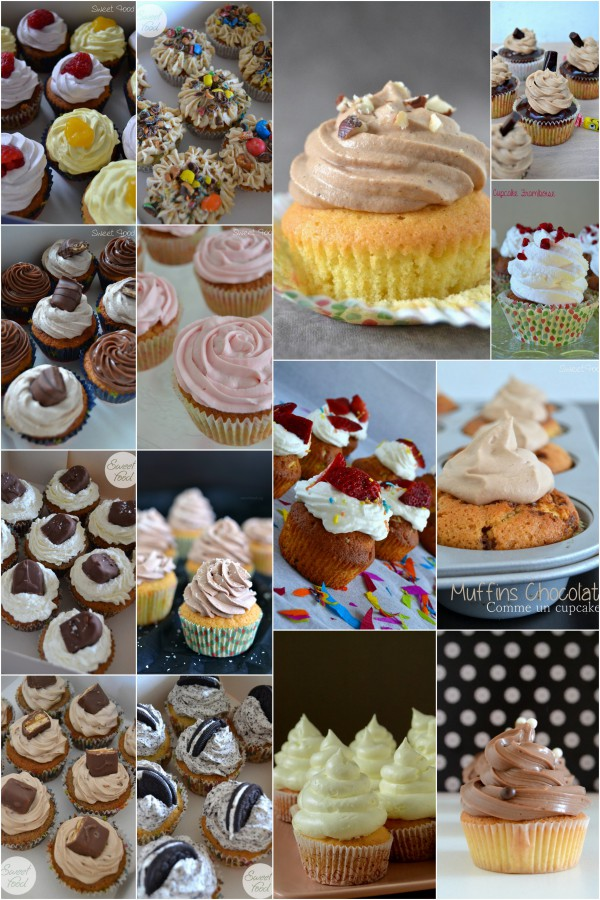 Récapitulatif des recettes de cupcakes