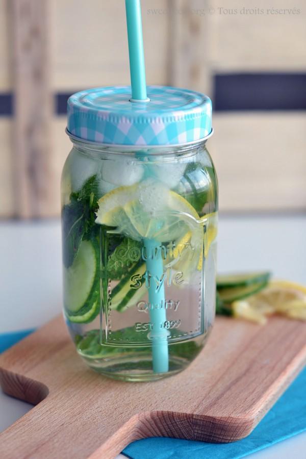 [ Detox Water ] Eau détoxifiante menthe, concombre, citron