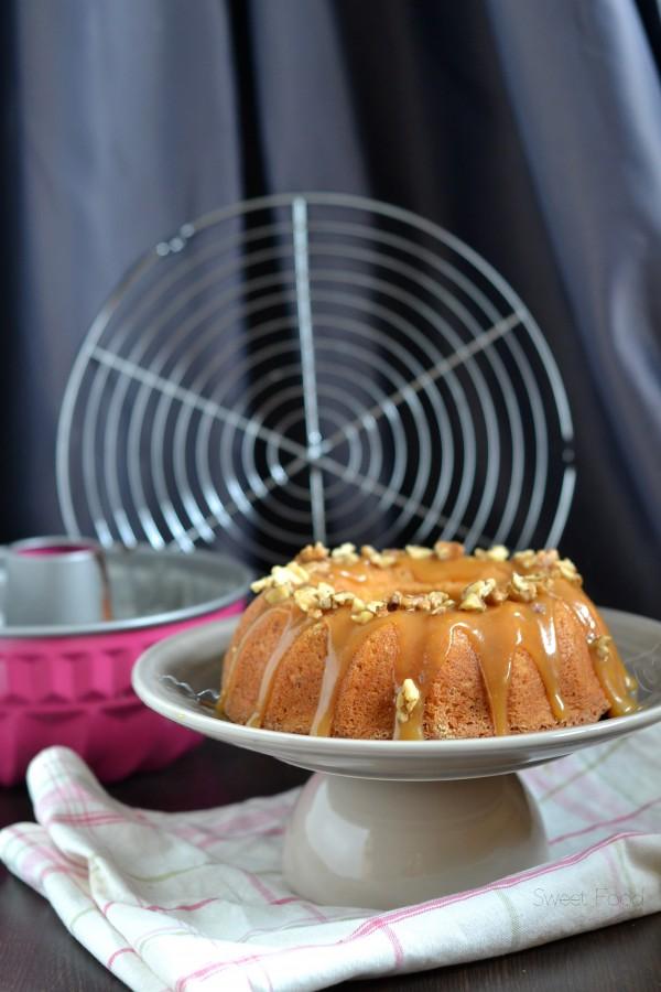 gâteau aux noix et caramel