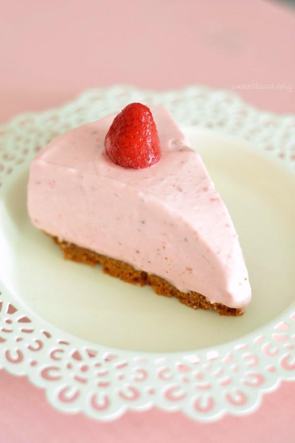 Cheescake sans cuisson aux fraises