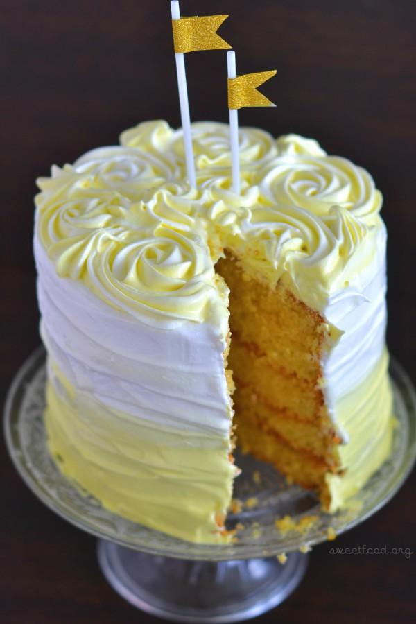 Ombre cake au citron