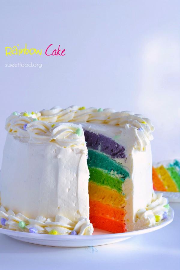 Rainbow cake – Gâteau arc-en-ciel