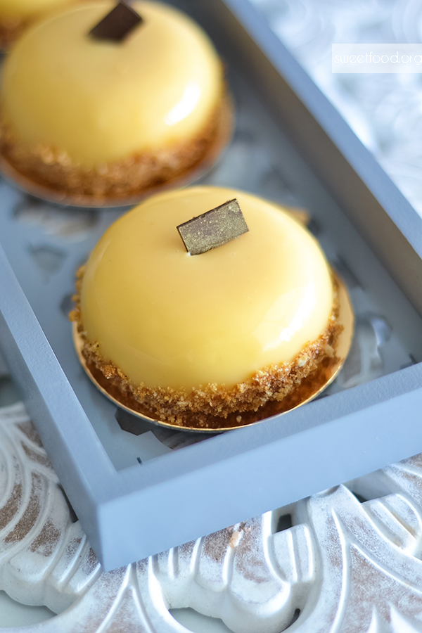 Petit bavarois poire/caramel