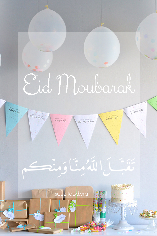 Eid moubarak + Piñata cake
